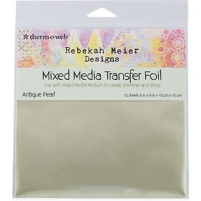 "Rebekah Meier Designs Transfer Foil 6""X6"" 12/Pkg - Antique Pearl"
