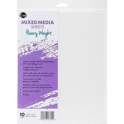 "iCraft Mixed Media Sheets 8.5""X11"" 15/Pkg - Heavyweight"