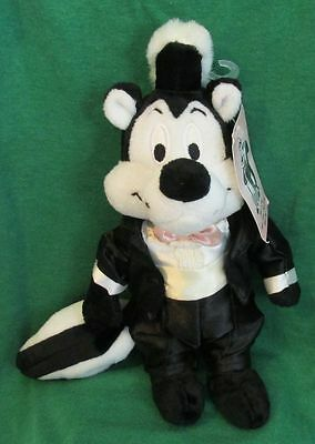 Warner Brothers WB Store Pepe le Pew Groom Bean Bag Plush Wedding 2000 Tagged
