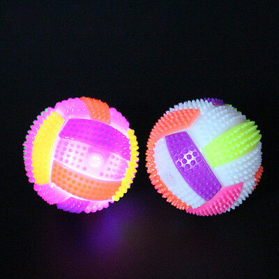 New Light Up Volleyball LED Flash Sounding Bouncing Balls Hedgehog Ball Kids Toy