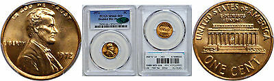 1972/72 Lincoln Cent PCGS MS-66+ RD CAC