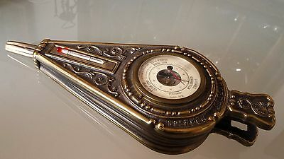 Antique Mercier Aneroid Barometer Bronze Case
