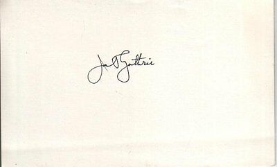 Janet Guthrie Autographed Card First Womnen Qualify Dayton and Indy 500