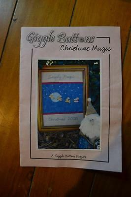 "Applique Embroidery Pattern w/ Display Frame ""Christmas Magic"" FREEPOST IN AUST"