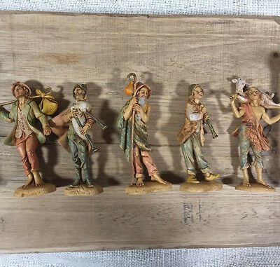 "Fontanini Depose Figures 5"" Italy Depose Spider 103-105 115 123 Vtg Lot of 5"