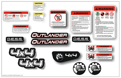 [461 tab] GRAPHICS BRP can-am outlander COMMANDER, Maverick decals kit sticker