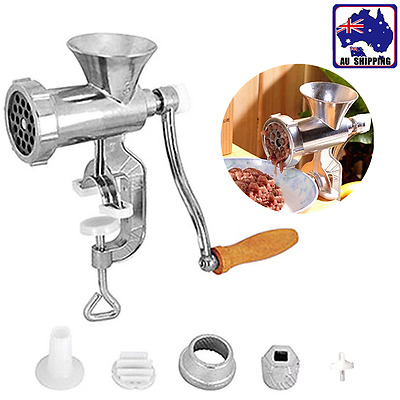 Manual Meat Grinder Mincer Stuffer Sausage Filler Maker Machine Tool HKCU61601