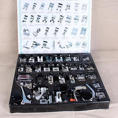 32 PCS Domestic Sewing Machine Foot Feet Snap On For Brother Singer Set Tool