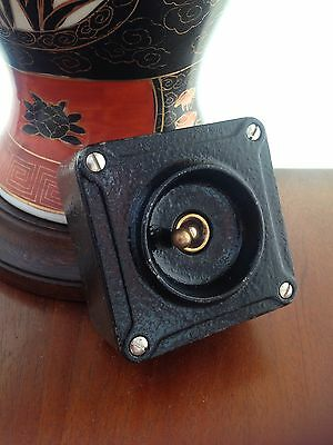 Vintage Industrial  Crabtree Light Switch Restored Working Perfect