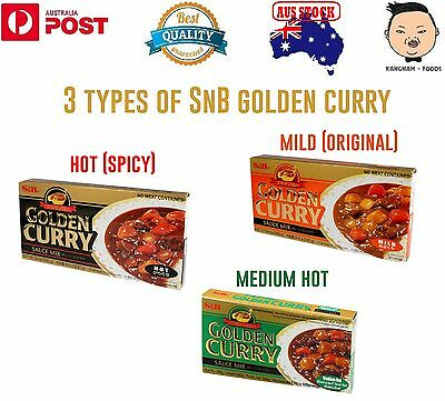 3 X Japanese Golden Curry 3 Different Kinds Of Flavors (Mild, Medium Hot, Hot)
