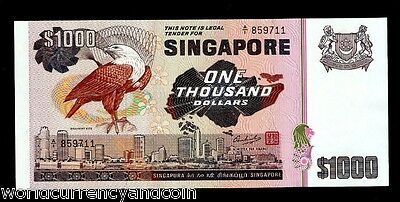 Singapore 1000 1,000 Dollars 1978 Bird Unc Large Currency Ship Money Bank Note
