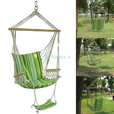 Garden Patio Porch Hammock Hanging Swing Chair Seat Bench Swinging Cushion Rest