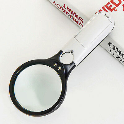 Magnifier Reading 10X 20X 3 LED Light Handheld Magnifying Glass Jewelry Loupe