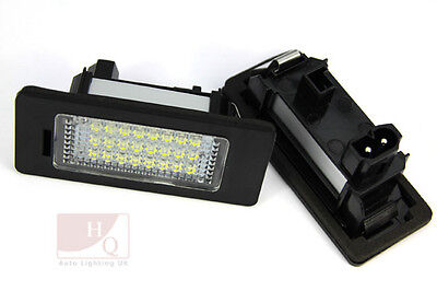 LED Can Bus License Licence Number Plate Light Lamp fit Audi A4 4D/5D B8 2008 ->