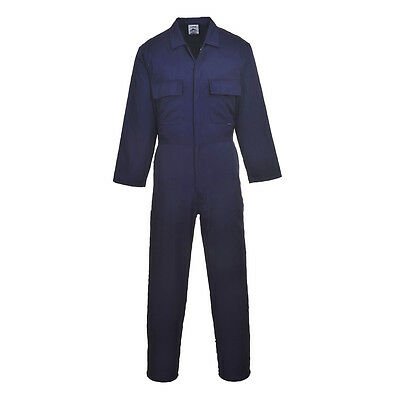 Portwest Men Euro Work Polycotton Coverall Reg/Tall Various Color and Size S999