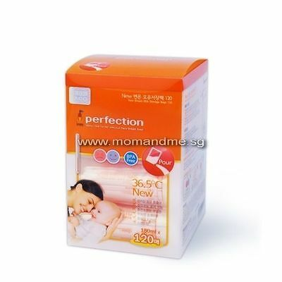 [Perfection] Temperature Sensor Breast Milk Storage Bags (200ml) 120 Count V_e