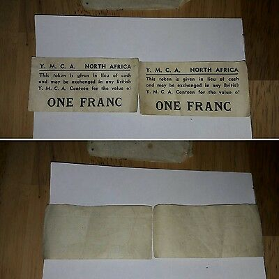 Very Rare 1 Franc Tokens - Used in WW2 North Africa Campaign