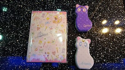 Sailor Moon 20th Anniversary-Sailor Moon Pink Letter Set and Limited Cat Tins