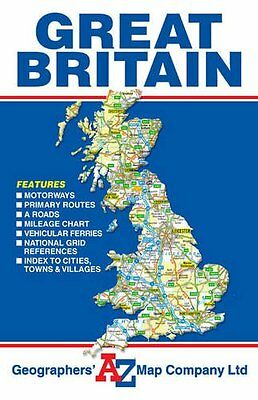 Great Britain Geographers' A-Z Map Co New Large Size Road Atlas Folded FREE P&P