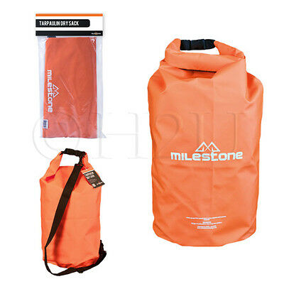 30L Milestone Heavy Duty Dry Bag Sack Tarpaulin Camping Fishing Waterproof PVC