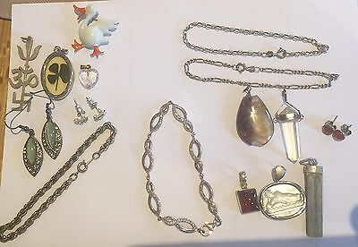 Collection Of Silver And Other Vintage Jewellery