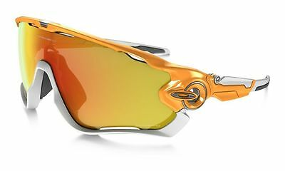Oakley JAWBREAKER Atomic Orange Fire Iridium Polarized Sunglasses OO9290-09