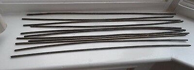 SET OF 11 Vintage  Brass Stair Rods No Reserve