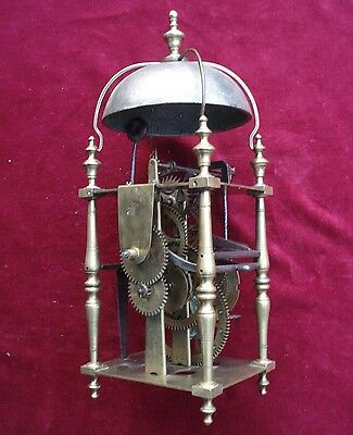 Very Fine And Unusual 18Th C Brass Lantern Clock Movement #2