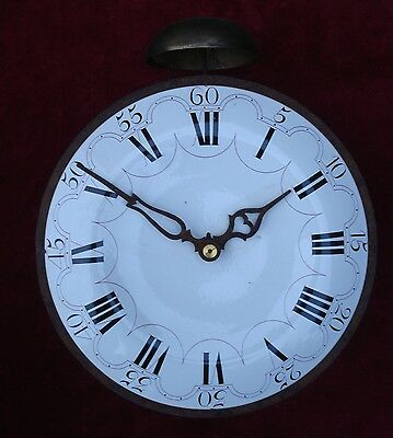 HOOK & SPIKE KITCHEN WALL CLOCK TIC TAC ESCAPEMENT REPEATING RACk STRIKE 18TH C