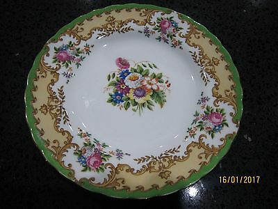 Tuscan Lorraine Green English Vintage China Teaset Teaplate Floral English fine
