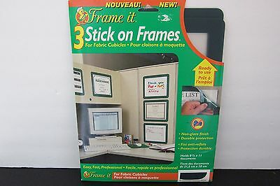 Frame It Stick on Frames for Fabric Cubicles New Package of 3 Frames Letter Size