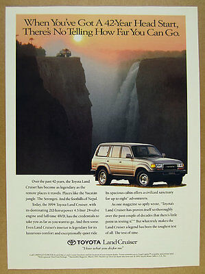 1994 Toyota Land Cruiser landcruiser color photo vintage print Ad