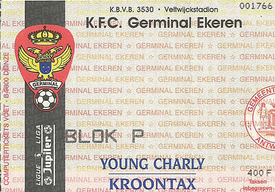 Ticket - Germinal Ekeren - Anderlecht