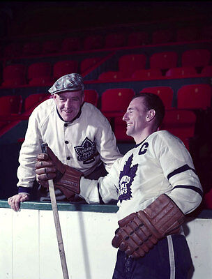 Ted Kennedy & King Clancy Toronto Maple Leafs  Unsigned 8x10 Photo