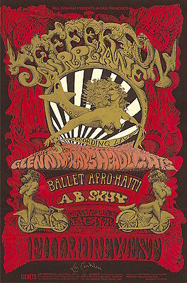 MINT & SIGNED Jefferson Airplane LIVE 1968 BG 142 Fillmore Poster