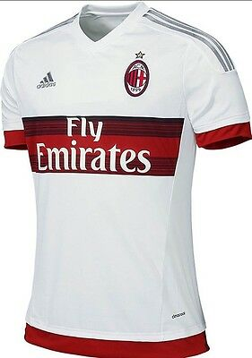 AC Milan Away Shirt Football Jersey 2015/16 Size L Adidas S16643