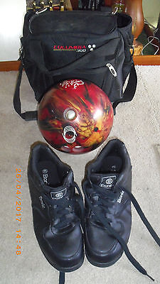 mens rio 5kg 11lb bowling ball etonic size 10 shoes & columbia 300 bag