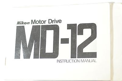 Nikon MD-12 MD 12 Instruction manual original vintage