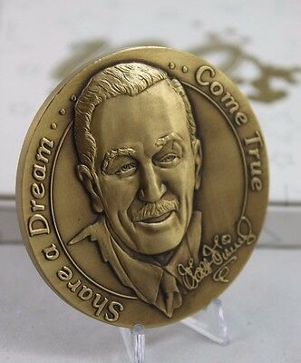 Walt Disney 100 Years of Magic Bronze Cast Member Medallion / Coin in Orig Box
