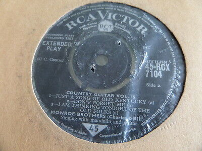 """Monroe Brothers Country Guitar Vol 15 EP 7"""" Single 45rpm"""