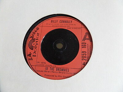 """Billy Connolly In The Brownies 7"""" single 45rpm"""