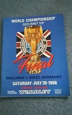 1966 World Cup Final Programme - ENGLAND v WEST GERMANY Original near mint