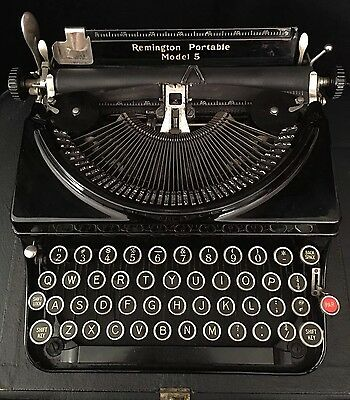 Remington Portable Model 5 Typewriter 1930's Antique