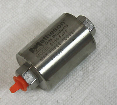 "NEW Matheson 6164-P4FF, 250 psi, -18° to 74°C, 0.2 micron, 1/4"" FPT, Gas Filter"