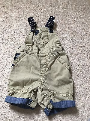 Baby Boys Dungaree Shorts From Next 9-12 Months