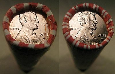 2017-P D Lincoln Shield Cent Roll's of 1P 1D OBW Brilliant Uncirculated Roll's