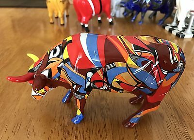 Cow Parade ~Psycowdelicowwow~ Item No. 7303 (Retired). Westland 2002. Used.