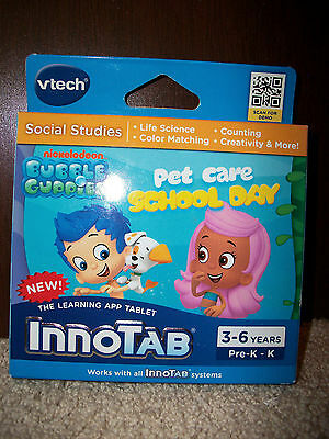 NEW! VTech InnoTab Bubble Guppies Pet Care School Day Learning System Software