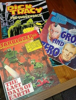 2 vintage Starblazer No.160 and 176 and 1 Dick Tracy comics  collectable