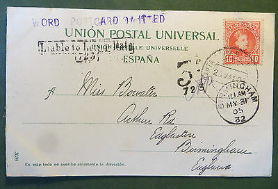 Vintage Postcard Tenerife UK 1905 Rare Postmarks Liable To Letter Rate & others